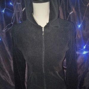 Juicy Couture NWOT black zip-up womens hoodie